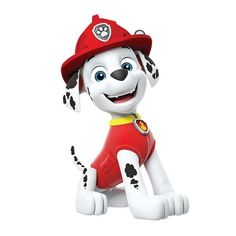 Get fired up with Marshall! This dalmation pup helps to put out fires and acts as a medic when needed. Although a little clumsy, Marshall is a brave member of the PAW Patrol. Pug Dogs For Sale, Escudo Paw Patrol, Paw Patrol Bedroom, Imprimibles Paw Patrol, Paw Patrol Party Supplies, Paw Patrol Coloring Pages, Paw Patrol Characters, Cute Little Puppies, Paw Patrol Birthday