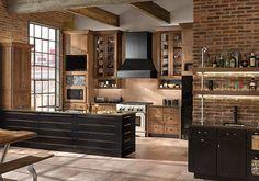 Rustic Alder Kitchen in Husk - KraftMaid