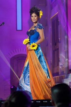 National costume show during the 63rd annual Miss Universe Competition in  Miami Miss Netherlands in