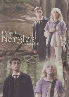 """""""I suspect Nargles are behind it"""" all the kids had taken her shoes! Poor Luna!"""