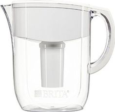 Amazon.com | Brita 10 Cup Everyday BPA Free Water Pitcher with 1 Filter, White: Mixed Drinkware Sets