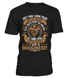 SHAUGHNESSY Brave Heart Last Name T-Shirt #Shaughnessy