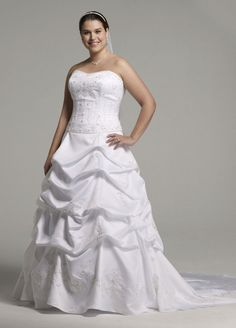 Sample: Satin Ball Gown Wedding Dress with Beaded Embroidery