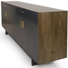 Gotham Credenza - Customizable Wood, Metal and Resin | From a unique collection of antique and modern credenzas at https://www.1stdibs.com/furniture/storage-case-pieces/credenzas/