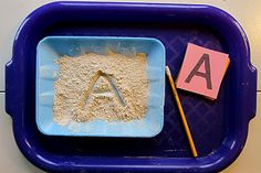Learning Trays... writing in flour, rice, sugar, or sand was a memorable…