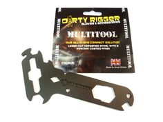 Cut from 4mm hardened steel with a matt black powder coated finish, the Dirty Rigger Multi-Tool offers exceptional durability and versatility.  14 separate tools, designed around some of the most common needs in the professional rigging industry, make this one of the most cost-effective multi-tools available.