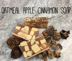 Oatmeal Apple Cinnamon Soap Recipe Oatmeal Apple C Coconut Soap, Homemade Soap Recipes, Food Categories, Oatmeal Recipes, Cinnamon Apples, Cinnamon Oatmeal, Soap Molds, Home Made Soap, Soap Making