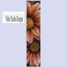 Flowers Peyote Bracelet Pattern. $2.00, via Etsy.