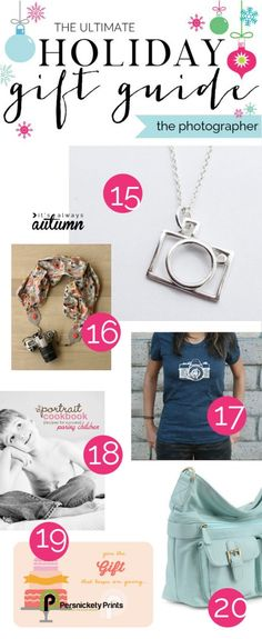 great gift guide for the aspiring photographer plus a photography lover's giveaway! I'm putting some of these gift ideas on my Christmas list. Photographer Gifts, Gifts For Photographers, Photography Accessories, Photo Accessories, Holiday Gift Guide, Holiday Gifts, Popular Christmas Gifts, Christmas Minis, Gifts For An Artist