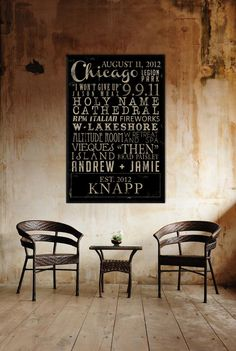 "Customized Wedding Sign Typography ""ELITE"" Series Word Art Canvas art personalized Words and phrases wall art 30X40. $320.00, via Etsy."