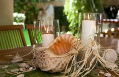Beach Wedding Table Centerpieces | ... beach i thought i would do beach inspired centerpieces source source