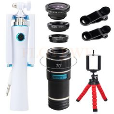 Universal Clips 12X Telephoto Zoom Lens 3 in 1 Fisheye Wide Angle Macro Lenses Mini Selfie Stick Mobile Tripod For iPhone Xiaomi