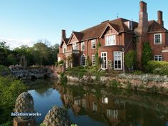 manor house with a moat in suffolk
