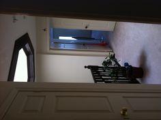 Upstairs hallway & skylight