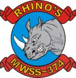 """Marine Wing Support Squadron 374, 29 Palms Marine Corps Base """"Keep Charging"""""""