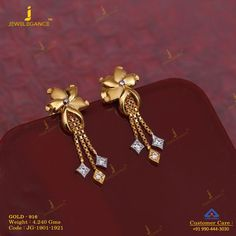 Get In Touch With us on Gold Jhumka Earrings, Indian Jewelry Earrings, Jewelry Design Earrings, Gold Earrings Designs, India Jewelry, Necklace Designs, Diamond Earrings, Gold Jewelry Simple, Gold Rings Jewelry
