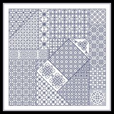 Discover recipes, home ideas, style inspiration and other ideas to try. Motifs Blackwork, Blackwork Cross Stitch, Cross Stitch Geometric, Blackwork Embroidery, Diy Embroidery, Cross Stitch Embroidery, Embroidery Patterns, Loom Patterns, Cross Stitch Kits