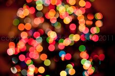How to create bokeh with Christmas tree lights. | Everyday Elements