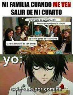 Read VOLVI :'V from the story \Memes de Death Note\ [TERMINADA]. Anime Meme, Otaku Meme, Funny Naruto Memes, Funny Memes, Funny Spanish Memes, Pokemon Comics, Fujoshi, Yandere, Best Memes
