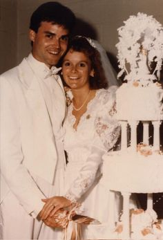 Foran family: David and Sherri Foran of St. Louis, MO at their wedding, 1988. Missouri History Museum. collections.mohistory.org #vintagewedding #wedding