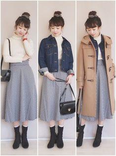 Fashion Q Outfits - Advice Korea Fashion, Japan Fashion, Kawaii Fashion, Cute Fashion, Modest Fashion, Girl Fashion, Fashion Outfits, Fashion Design, Grunge Fashion