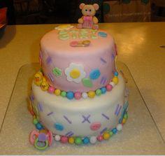 Baby Shower Cake! Follow my cousin Lindsay @cupcakesbylindsay on Instagram!