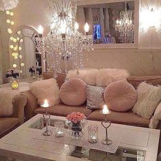 Everything about this picture screams 'my life!' & that chandelier...to die for.