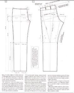 Man pants , patterns instructions