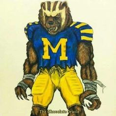 Wolverines Michigan Wolverines Football, Blue Football, College Football Teams, Football Stuff, Football Players, Colleges In Michigan, University Of Michigan, Football Tattoo, Michigan Wolverines
