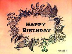 happy birthday doodle...