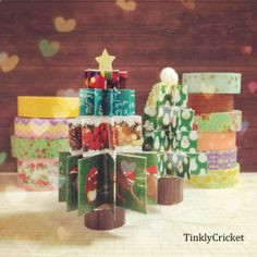 Inspiration: washi tape Christmas tree from Tinkly cricket.