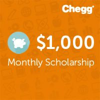 Don't miss the new $1,000 monthly scholarship from Chegg!