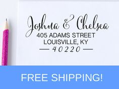 Self Inking Address Stamp - Return Address Stamp - Address Stamp   (D175)