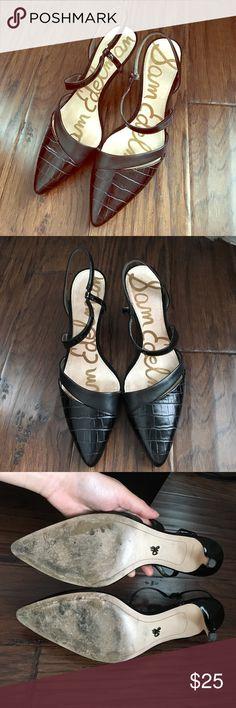 Sam Edelman Othello Heels In good but used condition. Some scuffs around the heels. Sam Edelman Shoes Heels
