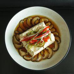 Steamed Tofu and Shiitake