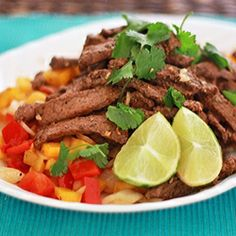 Zippy and tangy Chipotle-Lime Steak with Peppers and Onions
