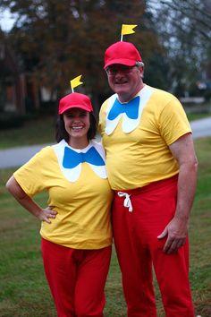 Tweedle Dee and Tweedle Dum Alice in Wonderland DIY costumes