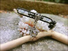 Aquamarine Gemstone Bracelet with Charms by OffOnAWhim on Etsy, $24.00