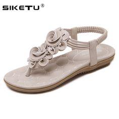 28f7713b27a3 Midas SIKETU Women Sandals Black Apricot Flowers Flip Flops