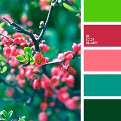 color amaranto, color guinda, color guinda claro, color rosa, color verde azulado, color verde jade, color verde jade oscuro, color verde pino, matices del rosado pastel, pino verde, verde lechuga vivo, verde lechuga y rosado, verde vivo.