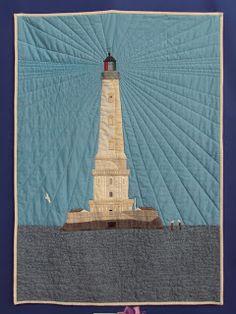 Ocean Quilt, Patch Quilt, Statue Of Liberty, Tower, Building, Travel, Scraps Quilt, Statue Of Liberty Facts, Rook