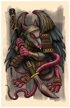 Image of Rat Zodiac Warrior