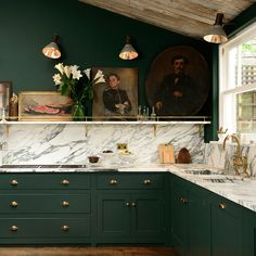The Kitchen Trends To Know For 2021 | sheerluxe.com Best Kitchen Cabinets, Kitchen Cabinet Styles, Kitchen Cabinet Hardware, Brass Hardware, Beautiful Kitchens, Cool Kitchens, Rustic Kitchens, Green Kitchen Decor, Gold Kitchen