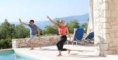 An outdoors yoga session on a luxury Meditation & yoga holiday Greece - Retreats   Vidados