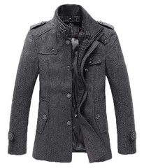 The Ellis Mandarin Short Trench Charcoal – Leather & Cotton