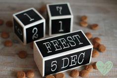 Aftelblokjes Sint - Sint - Tof prints December Holidays, Flip Clock, Family Life, Silhouette Cameo, Prints, Diy, Dutch, Instagram, Sweets