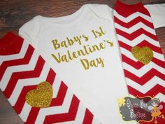 Baby girl first valentines day outfit baby by QueenBeeBoutique127