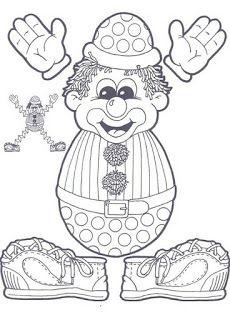 9 Best Images of Circus Theme Preschool Printable Worksheets - Preschool Circus Activities Printable, Kindergarten Circus Math Worksheets and Circus Preschool Printable Worksheet Clown Crafts, Circus Crafts, Carnival Crafts, Preschool Circus, Circus Activities, Circus Birthday, Circus Theme, Clown Cirque, Puzzle Photo