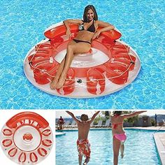 Inflatable Floating IslandSwimming Pool FloatsPool ToysPool Floats For AdultsPool ChairsParty Island FloatsWater FloatsPool Lounger *** Read more reviews of the product by visiting the link on the image.Note:It is affiliate link to Amazon.