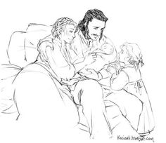 Bard the Bowman and family - Luke Evans